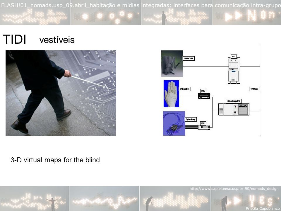 TIDIA vestíveis 3-D virtual maps for the blind