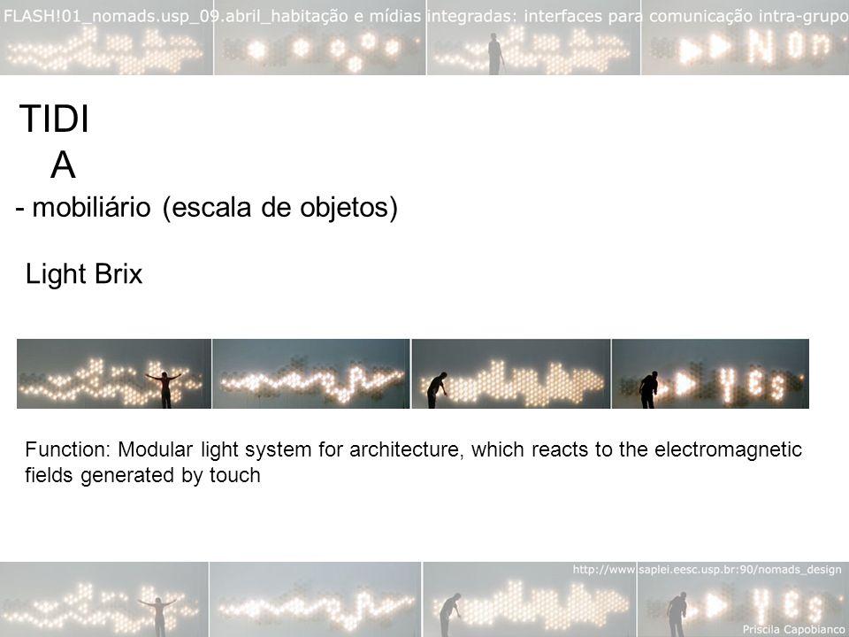 TIDIA - mobiliário (escala de objetos) Light Brix