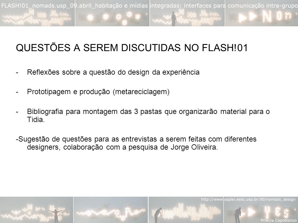 QUESTÕES A SEREM DISCUTIDAS NO FLASH!01