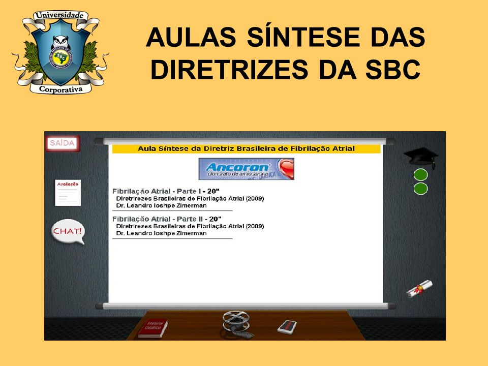 AULAS SÍNTESE DAS DIRETRIZES DA SBC