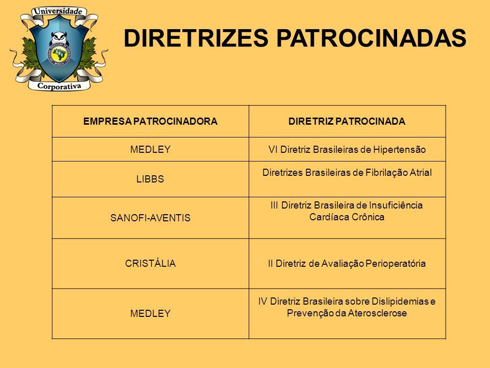 DIRETRIZES PATROCINADAS EMPRESA PATROCINADORA