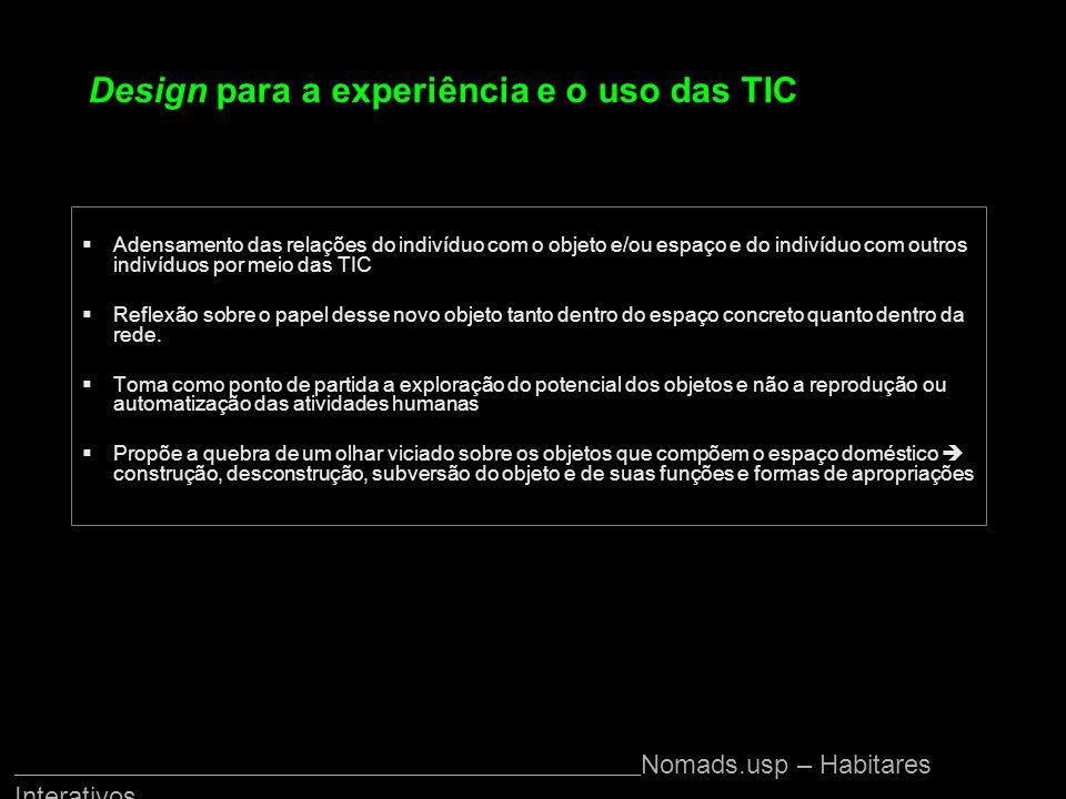 Design para a experiência e o uso das TIC
