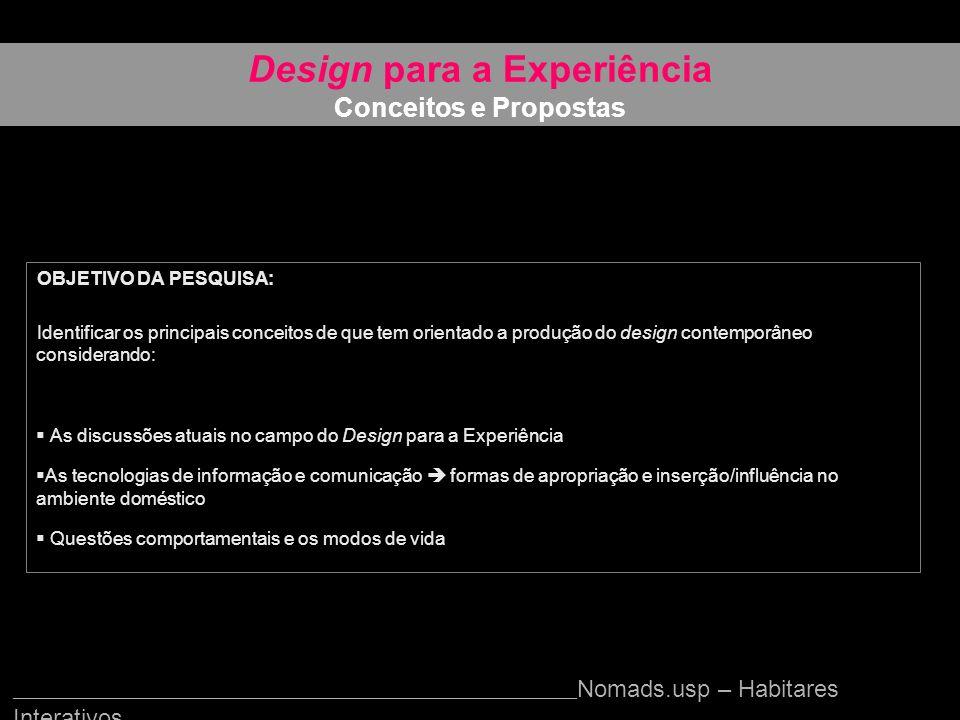Design para a Experiência Conceitos e Propostas