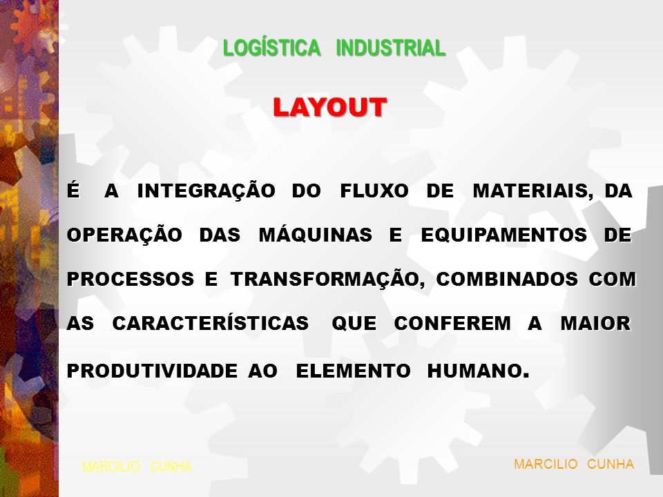 LAYOUT LOGÍSTICA INDUSTRIAL
