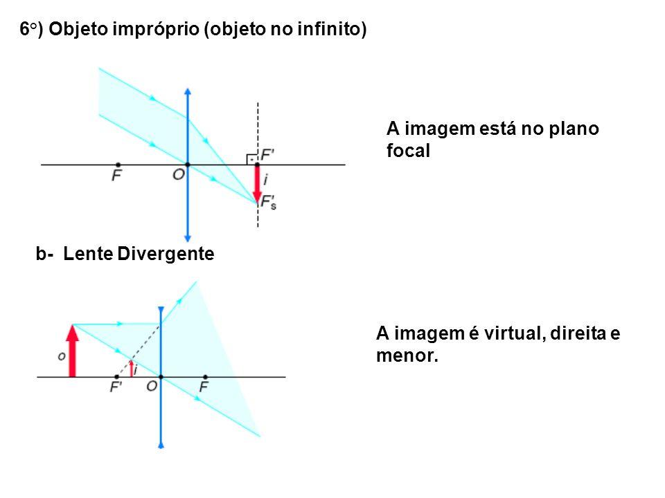 6°) Objeto impróprio (objeto no infinito)