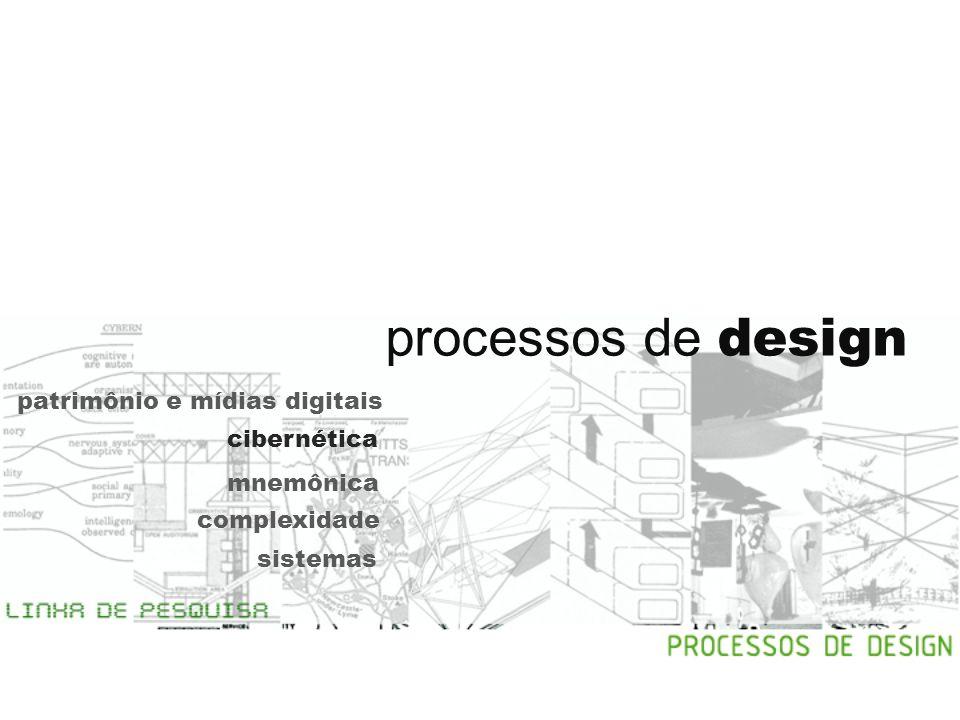 processos de design patrimônio e mídias digitais cibernética mnemônica