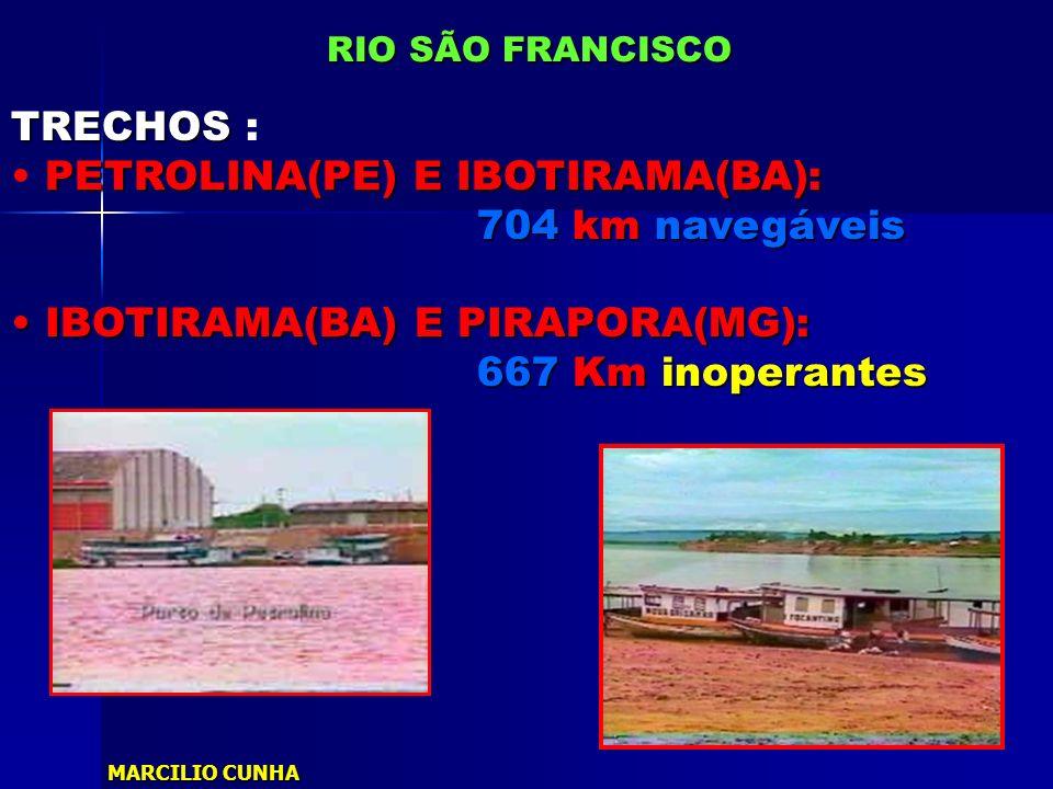 PETROLINA(PE) E IBOTIRAMA(BA): 704 km navegáveis