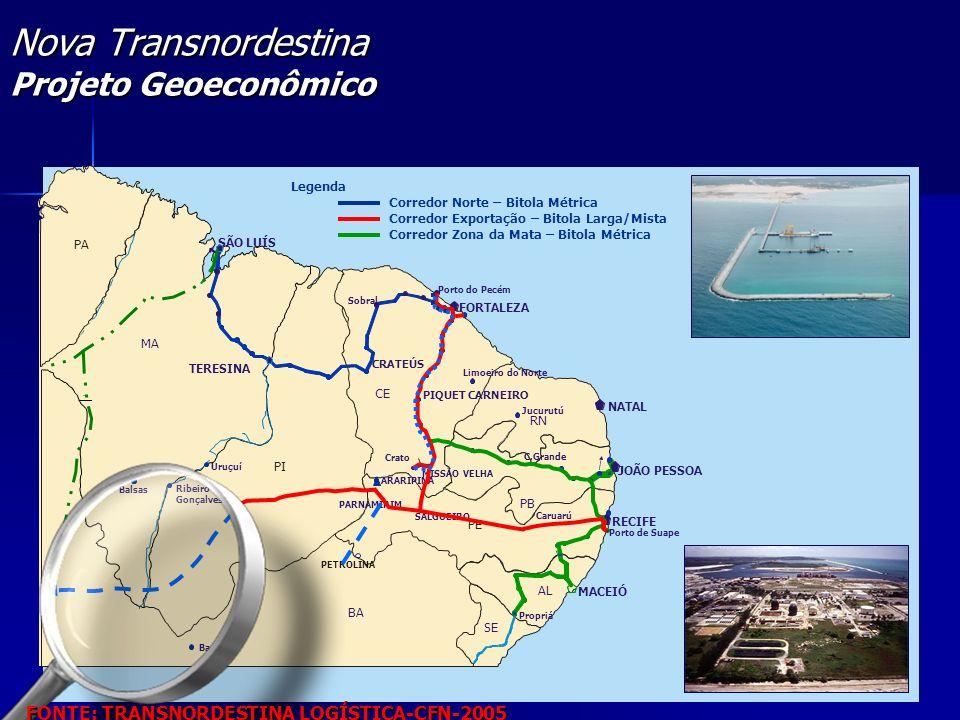 Nova Transnordestina Projeto Geoeconômico