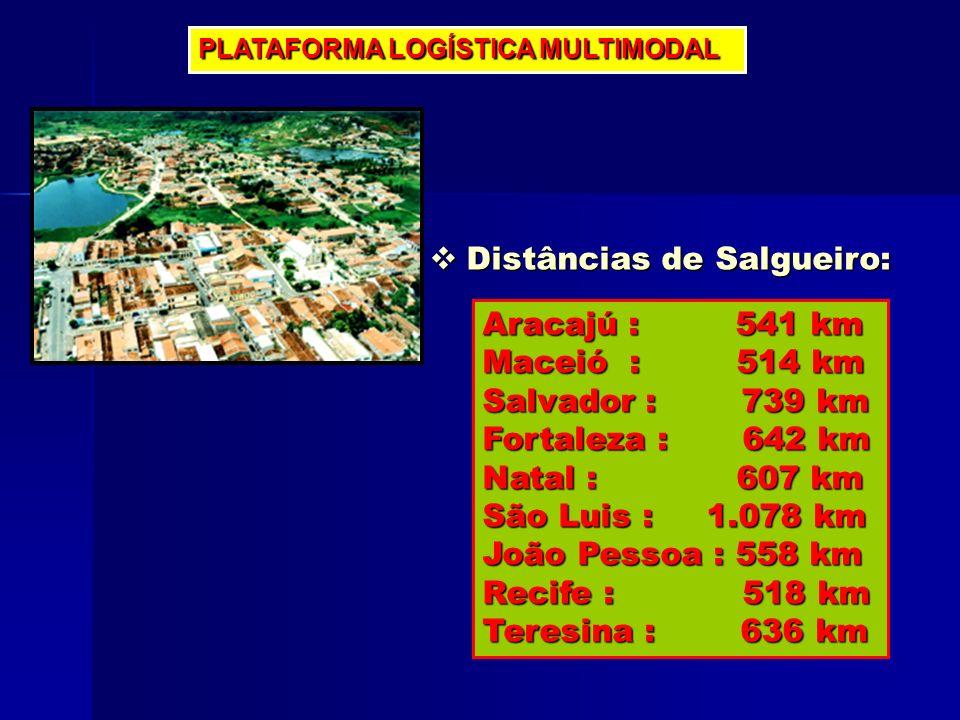 Distâncias de Salgueiro:
