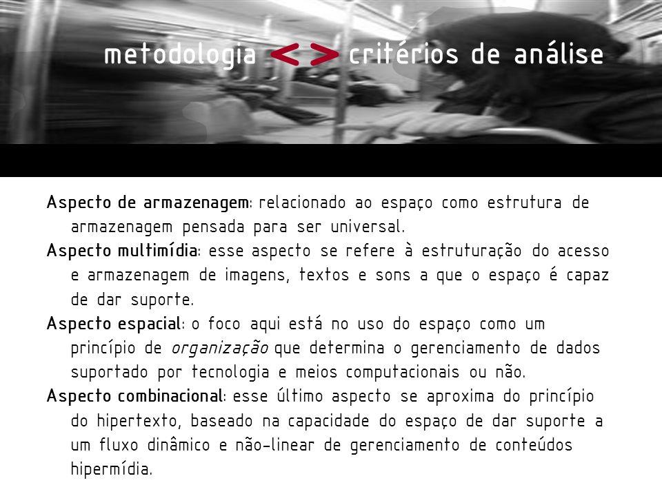 <> metodologia critérios de análise