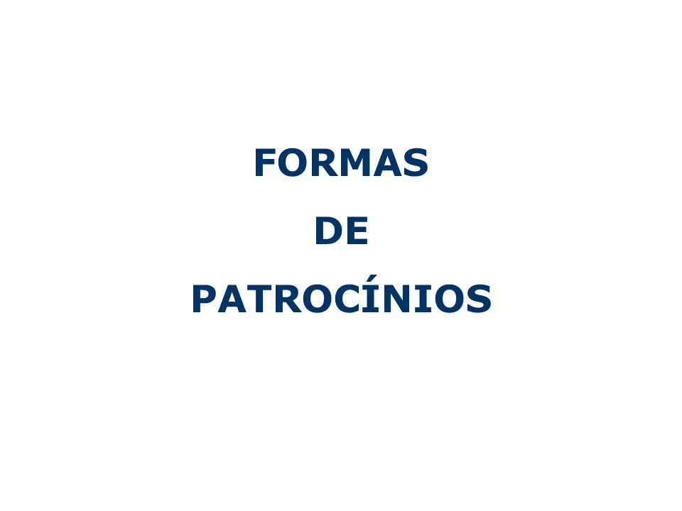 FORMAS DE PATROCÍNIOS