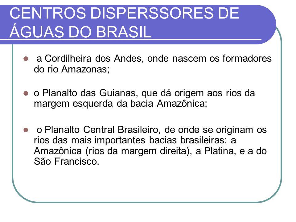 CENTROS DISPERSSORES DE ÁGUAS DO BRASIL
