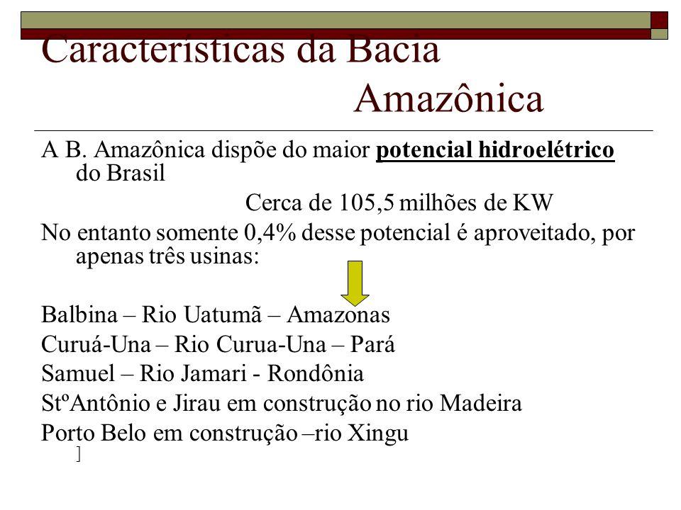 Características da Bacia Amazônica