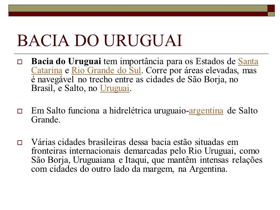 BACIA DO URUGUAI