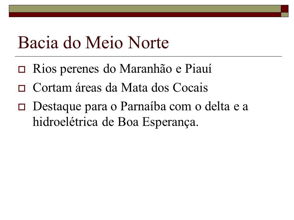 Bacia do Meio Norte Rios perenes do Maranhão e Piauí