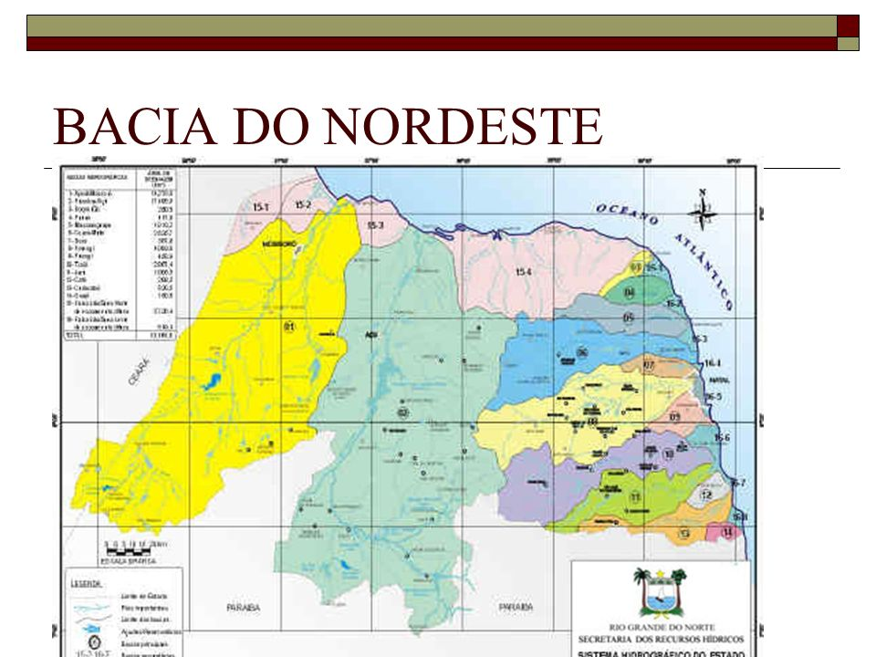 BACIA DO NORDESTE Rios intermitentes