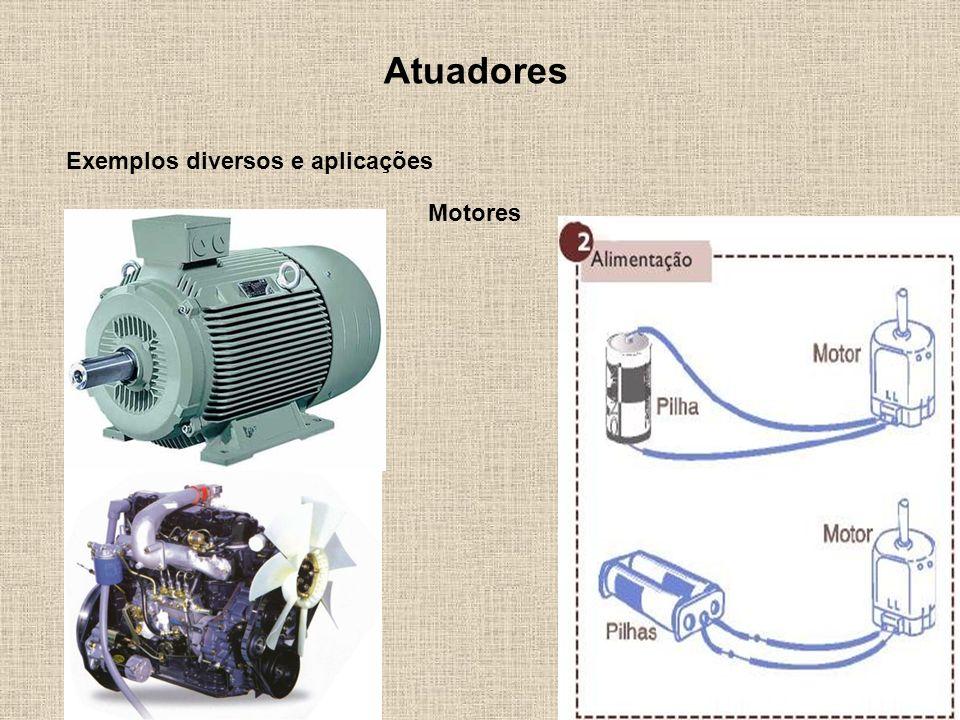 Atuadores Exemplos diversos e aplicações Motores