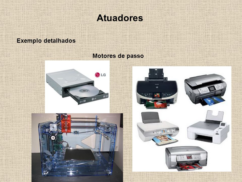 Atuadores Exemplo detalhados Motores de passo