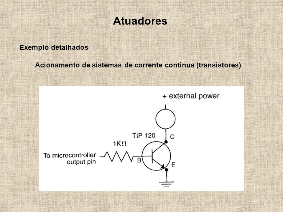 Acionamento de sistemas de corrente contínua (transistores)