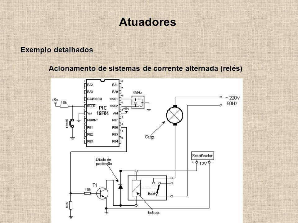 Acionamento de sistemas de corrente alternada (relés)
