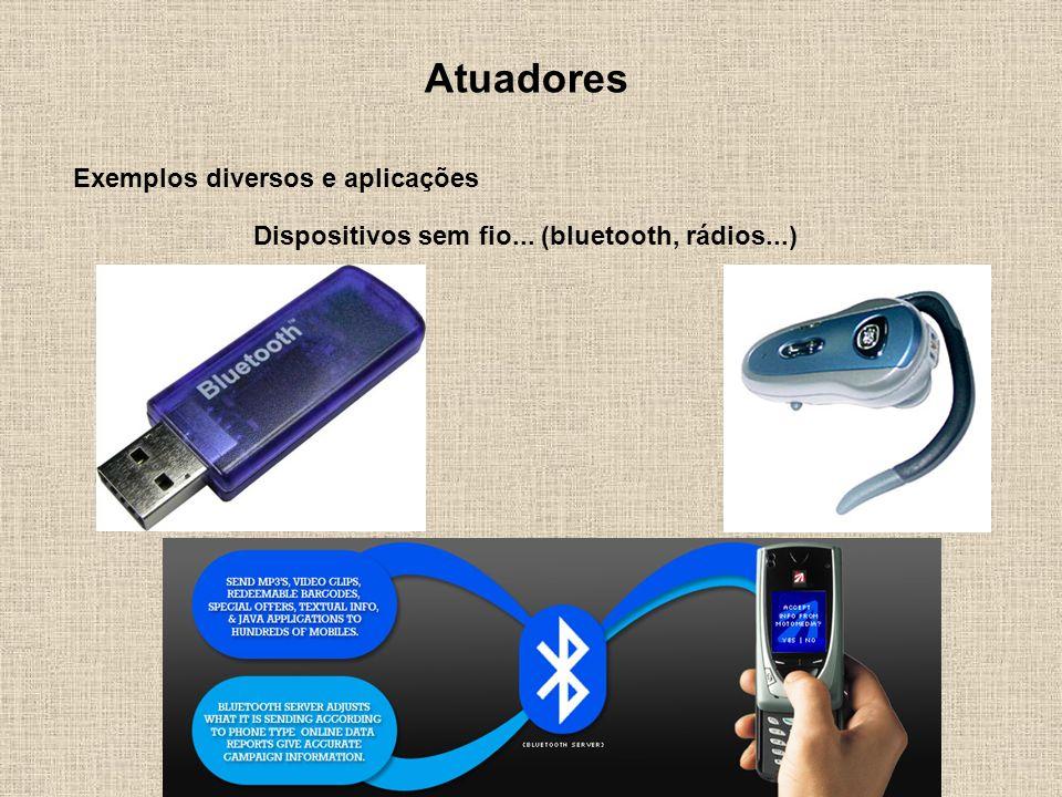 Dispositivos sem fio... (bluetooth, rádios...)