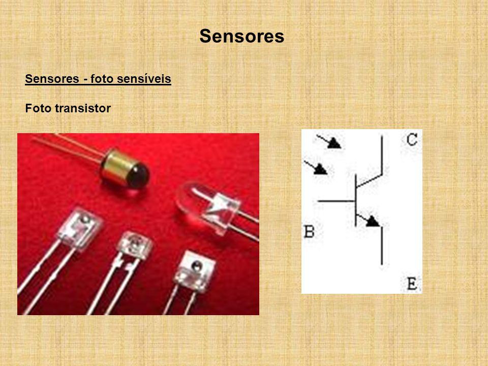Sensores Sensores - foto sensíveis Foto transistor