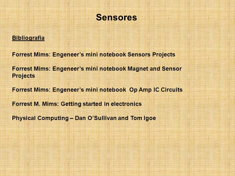 Sensores Bibliografia