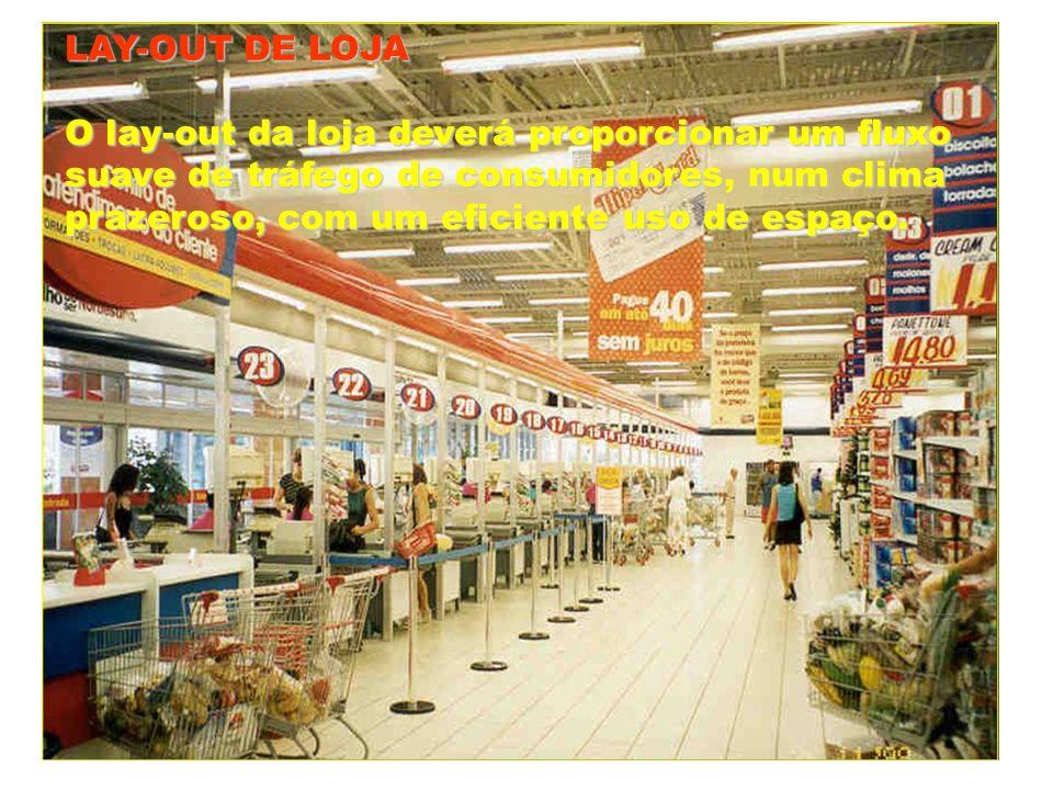 LAY-OUT DE LOJAO lay-out da loja deverá proporcionar um fluxo. suave de tráfego de consumidores, num clima.
