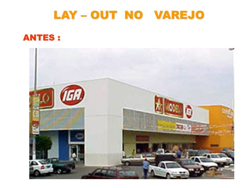 LAY – OUT NO VAREJO ANTES :