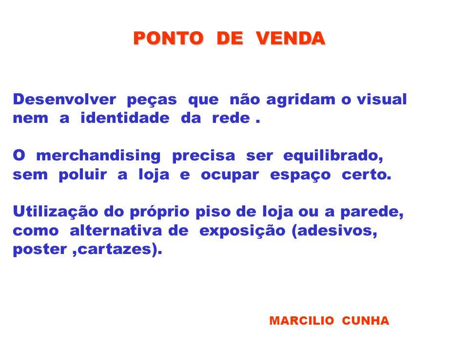 PONTO DE VENDA Desenvolver peças que não agridam o visual