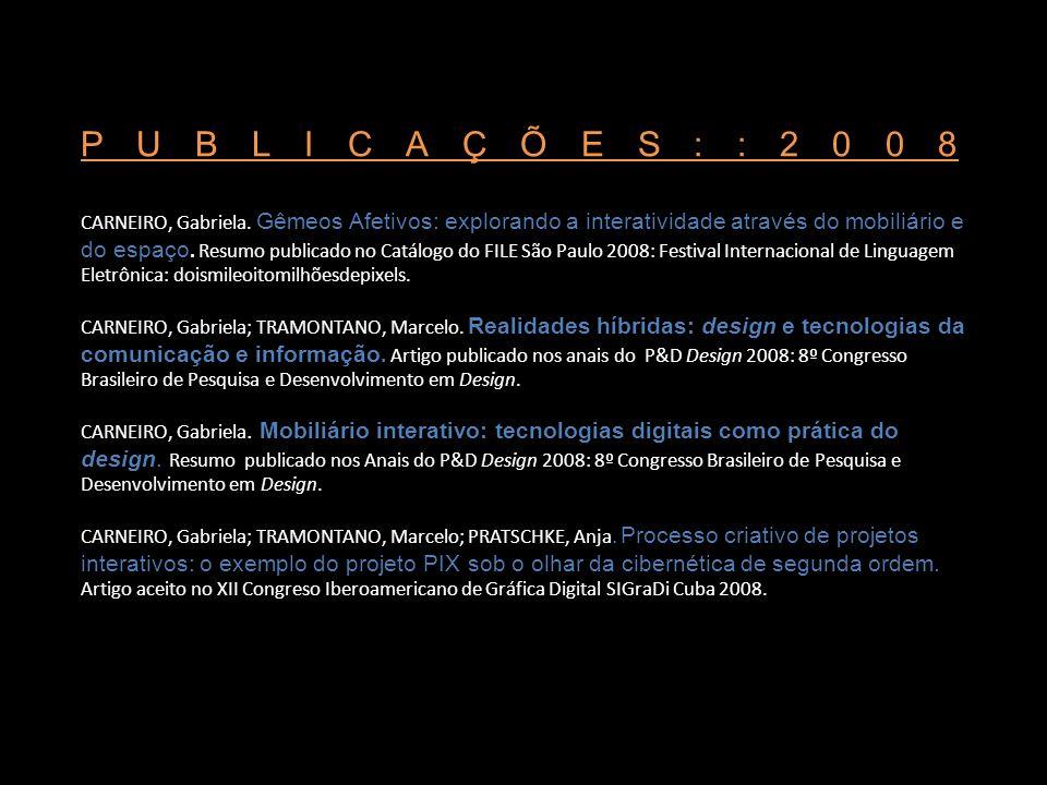 PUBLICAÇÕES::2008