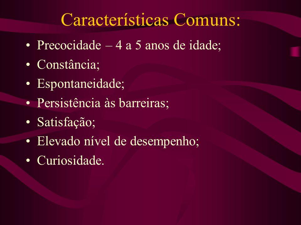 Características Comuns: