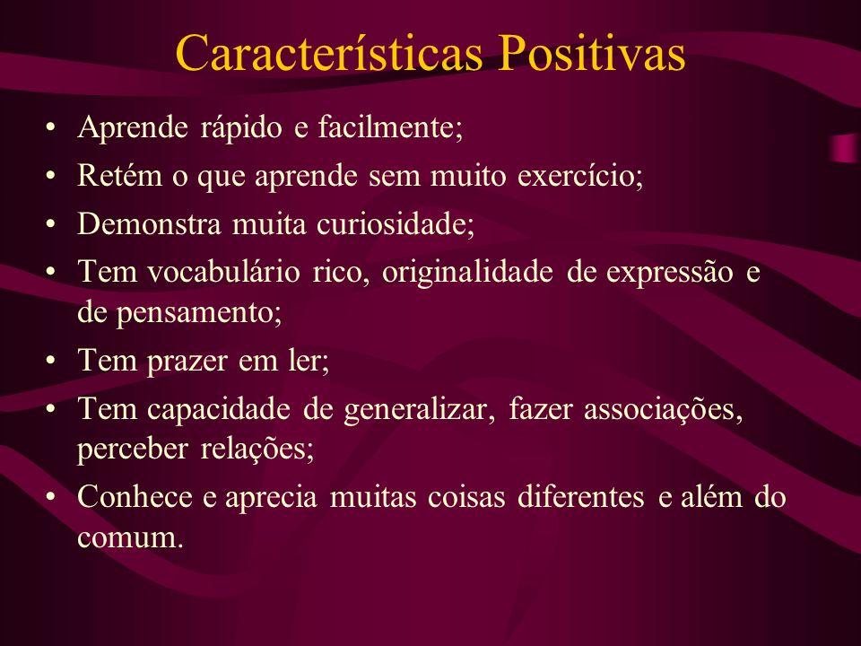 Características Positivas