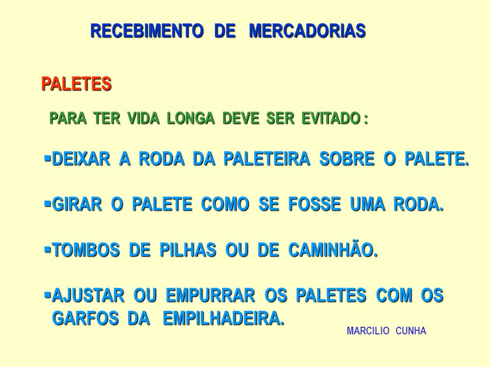 RECEBIMENTO DE MERCADORIAS