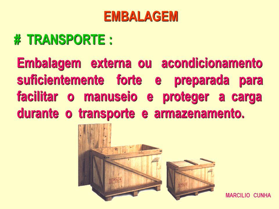 Embalagem externa ou acondicionamento