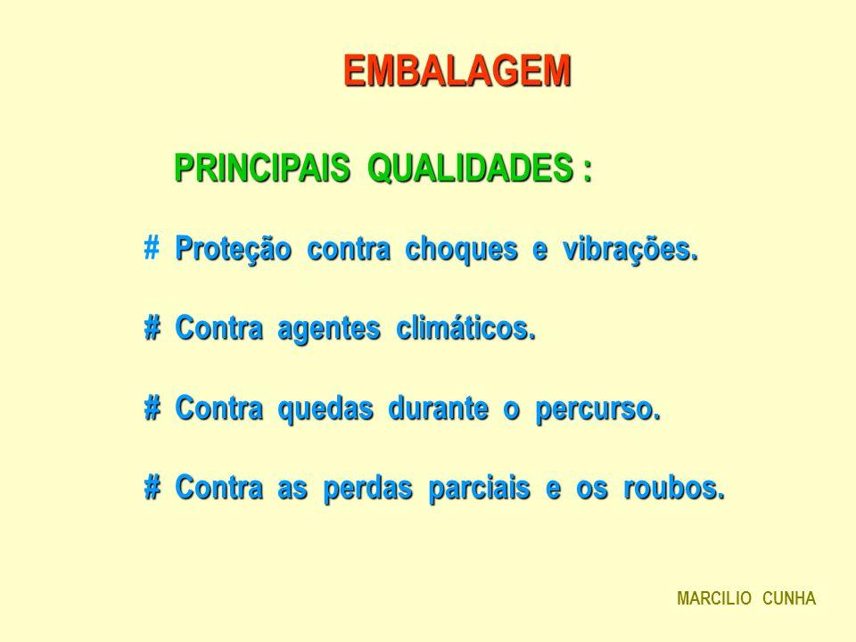 EMBALAGEM PRINCIPAIS QUALIDADES :