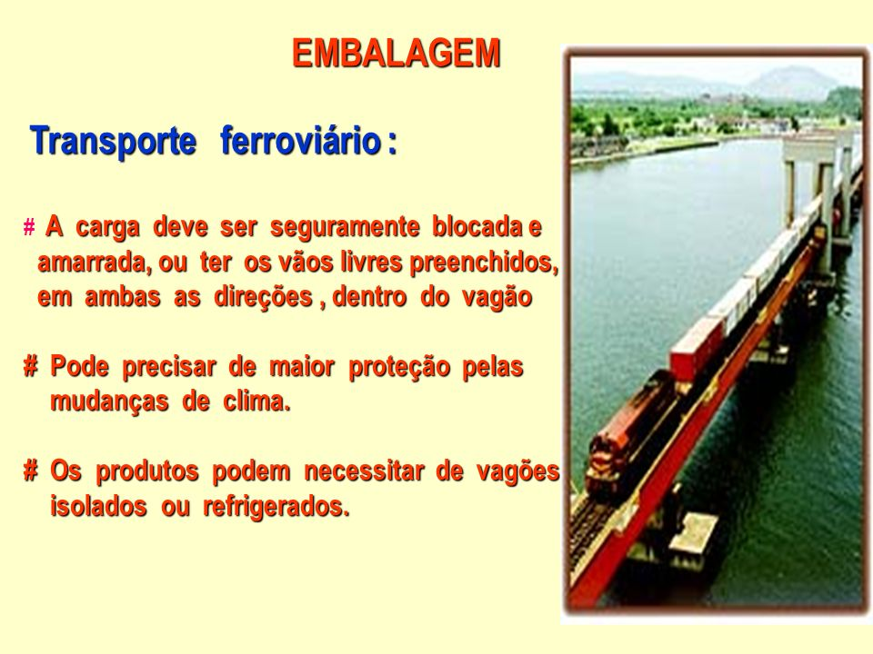 Transporte ferroviário :