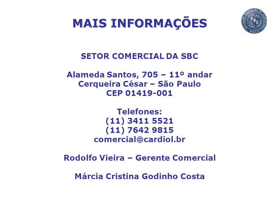 MAIS INFORMAÇÕES SETOR COMERCIAL DA SBC