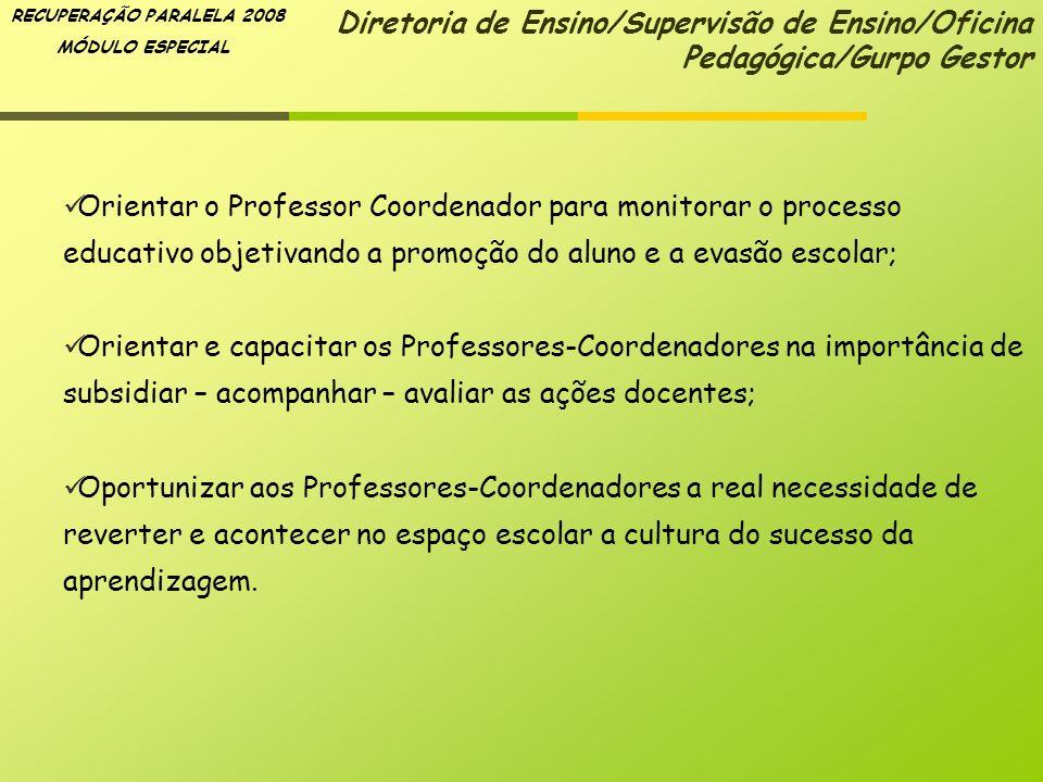Diretoria de Ensino/Supervisão de Ensino/Oficina Pedagógica/Gurpo Gestor