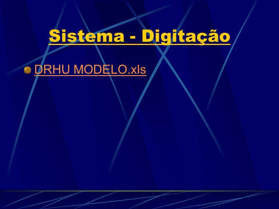 Sistema - Digitação DRHU MODELO.xls