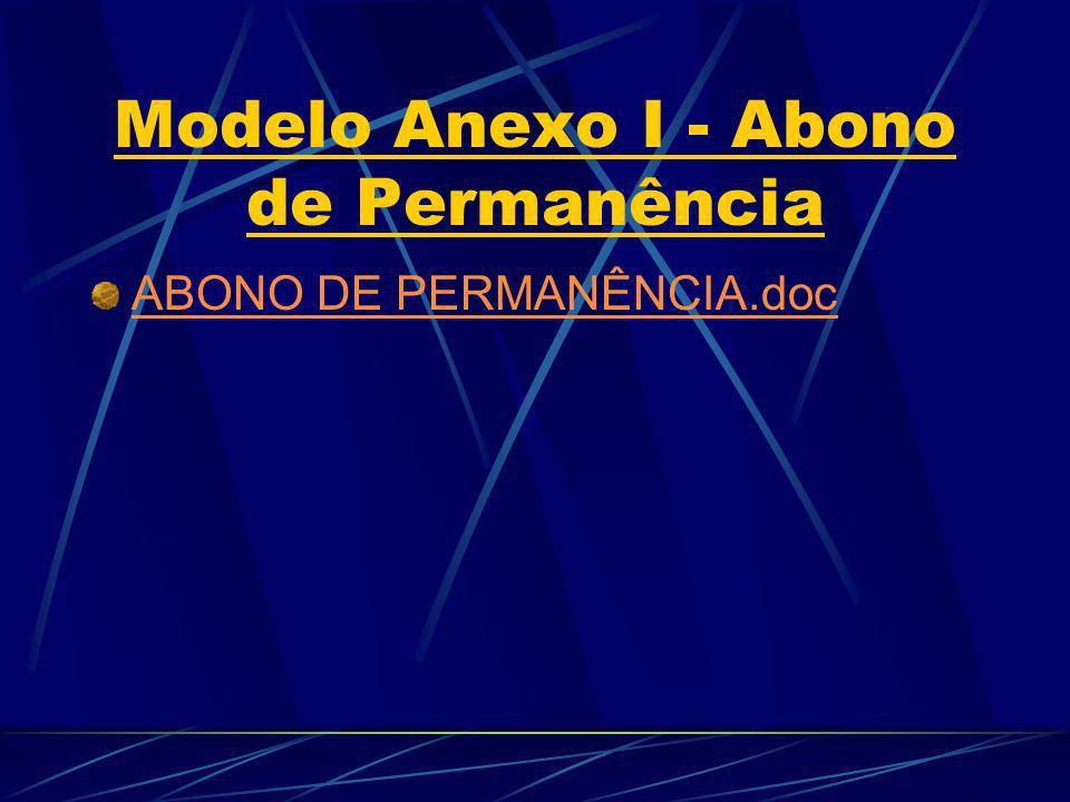 Modelo Anexo I - Abono de Permanência