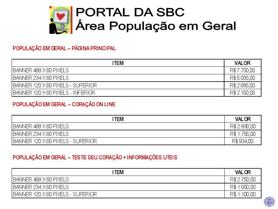 PORTAL DA SBC Área População em Geral