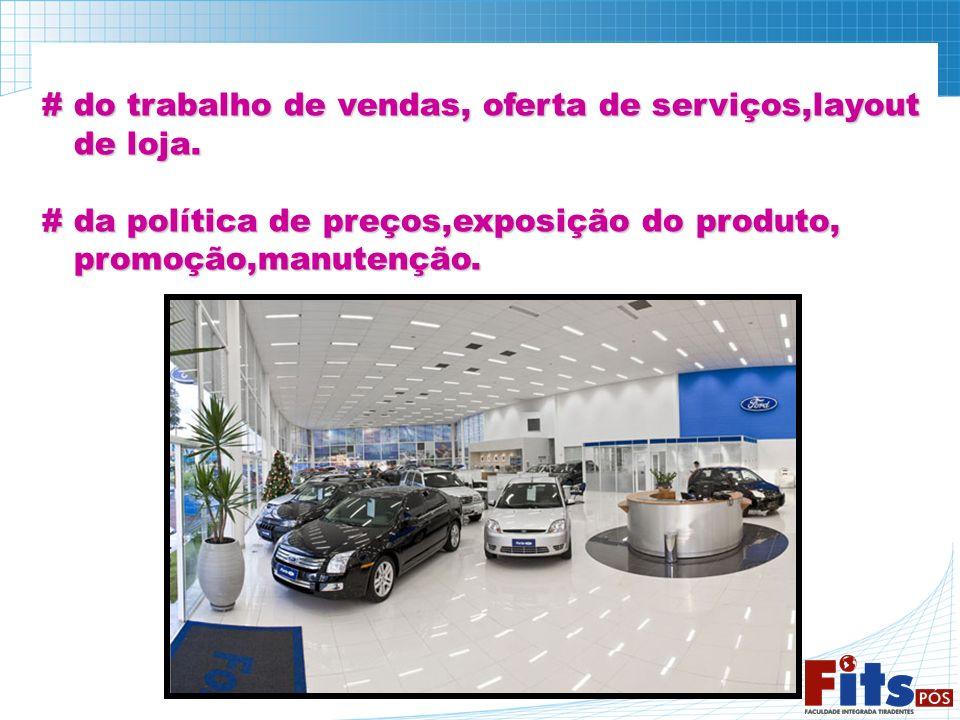 # do trabalho de vendas, oferta de serviços,layout