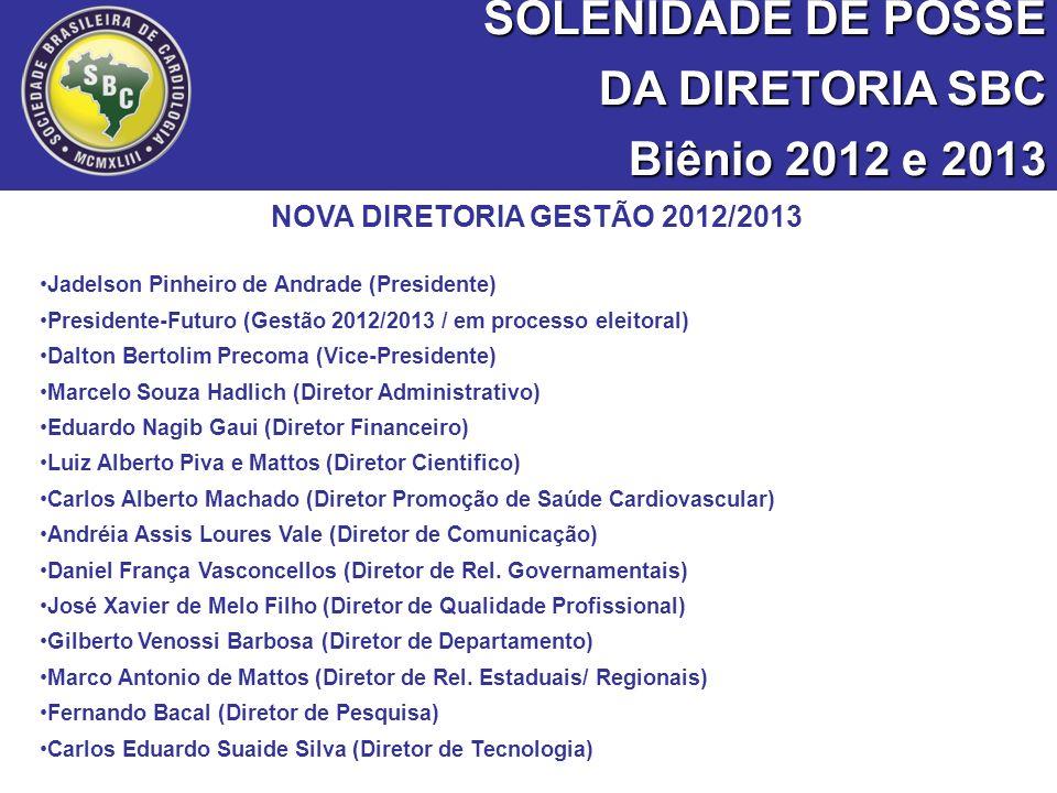 NOVA DIRETORIA GESTÃO 2012/2013