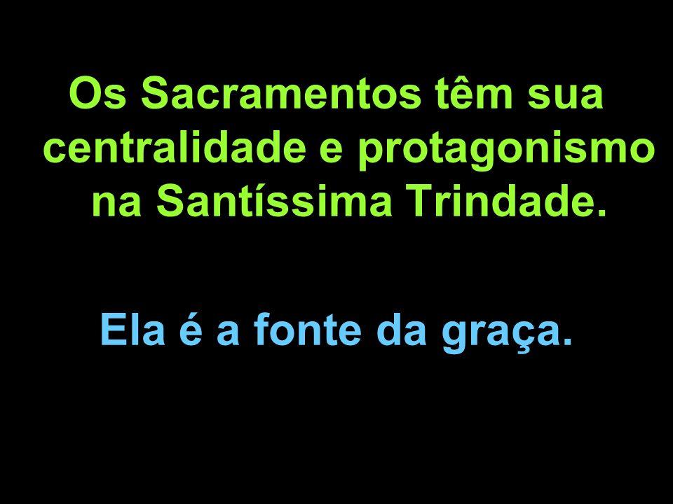 Os Sacramentos têm sua centralidade e protagonismo na Santíssima Trindade.