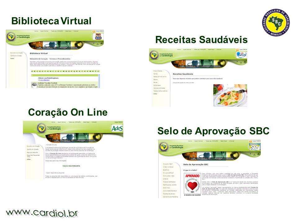 Biblioteca Virtual Receitas Saudáveis Coração On Line Selo de Aprovação SBC