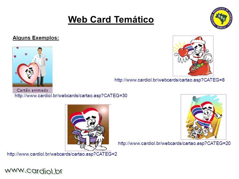 Web Card Temático Alguns Exemplos:
