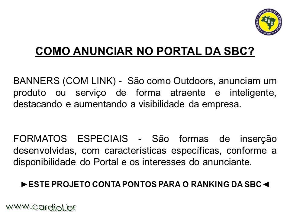 COMO ANUNCIAR NO PORTAL DA SBC