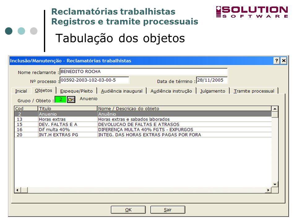 sssssssss Tabulação dos objetos www.solutionbh.com.br