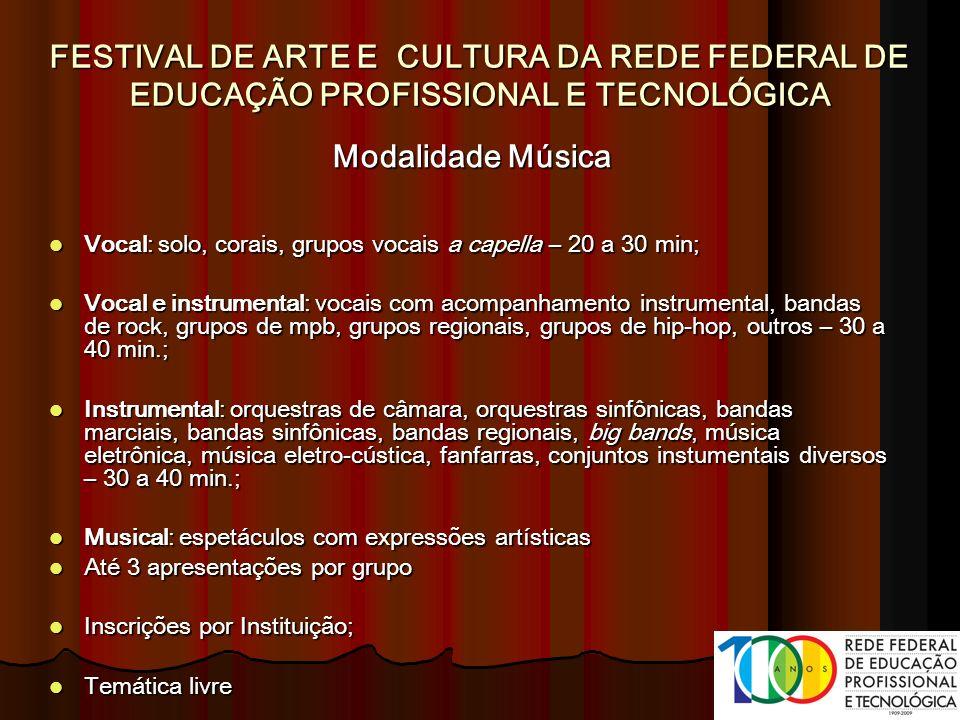 FESTIVAL DE ARTE E CULTURA DA REDE FEDERAL DE EDUCAÇÃO PROFISSIONAL E TECNOLÓGICA